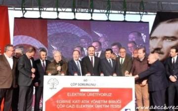 Edirne'de Çöpten Elektrik Üretilmeye Başlandı