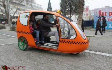 Lüleburgaz'da Bisikletli Taksi Dönemi