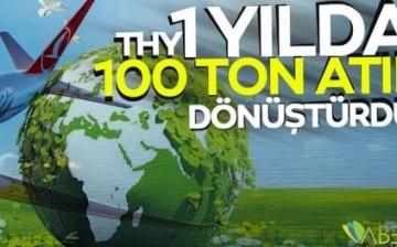 THY bir yılda 100 ton atığı dönüştürdü
