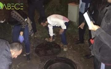 Kanalizasyona Boşaltırken Yakalandılar